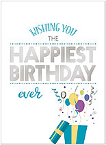 Happy Surprise Birthday Card A1411U-X