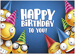 Happy Emojis Birthday Card A1417D-Y