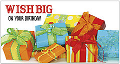 Wish Big Birthday Card A1418T-Z