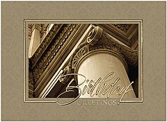 Opulent Pillar Birthday Card A1425U-X