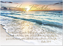 Beach Reflection Birthday Card A1430U-X