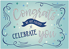 Excited Congrats Card A1437D-X