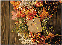 Fall Wreath Greeting Card A1459U-X