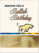Bullish Birthday Card A1472V-W