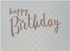 Patterned Birthday Card A9213S-4W