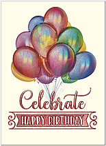 Celebrate Balloons Birthday Card A9214V-4W