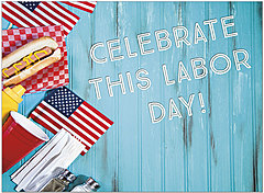 All American Labor Day Card D1456U-Y