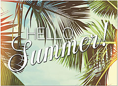 Summer Palms Greeting Card D1458U-Y