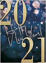 2021 Shimmer New Year Card D1543U-A