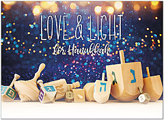 Love and Light Holiday Card D1545U-A
