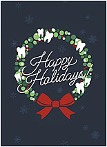 Dental Wreath Holiday Card D1547U-A