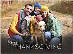 Horizontal Thanksgiving Photo Card D1488U-4B
