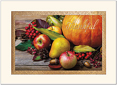 Autumn Bounty Thanksgiving Card H1474G-AAA