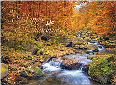 Autumn Brook Thanksgiving Card H1477U-AA