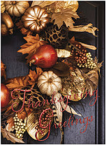 Thanksgiving Wreath Card H1479U-AA