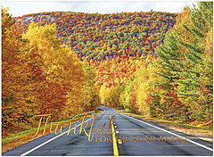 Colorful Highway Thanksgiving Card H1481U-AA