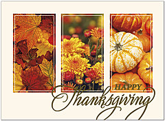 Panels of Fall Thanksgiving Card H1482U-A