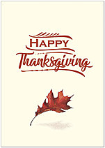 Copper Leaf Thanksgiving Card H1483KW-AA