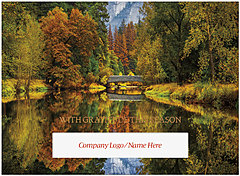 Autumn Bridge Die Cut Card H1515U-AAA