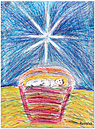 Nativity Christmas Card D2156U-PL1