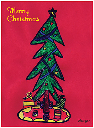 Christmas Tree Card D2157U-PL1