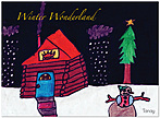 Winter Night Holiday Card D2159U-10PK