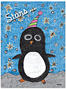 Holiday Penguin Card D2234U-PL1