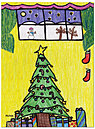 Star Christmas Tree Card D2235U-10PK