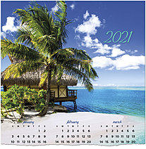 Tropical Calendar Card C1494U-AA