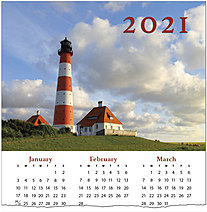 Lighthouse Calendar Card C1495U-AA