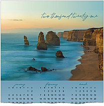 Sunset Coastline Calendar Card C1498U-AA