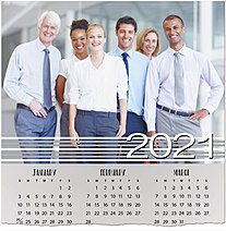Stripe Border Photo Calendar Card D1499U-4A