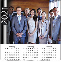 Striped Photo Calendar Card D1501U-4A