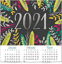Colorful Leaves Foil Calendar Card C1504U-AAA