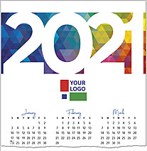 Colorful Logo Calendar Card D1516U-4A