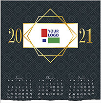 Corporate Logo Calendar Card D1517U-4A