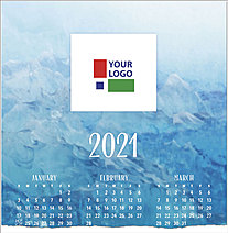Blue Waters Logo Calendar Card D1518U-4A