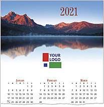 Mountain Lake Logo Calendar Card D1519U-4A