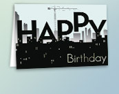 Construction Theme Business Birthday Cards