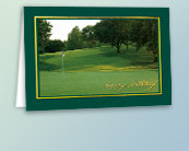 Golf Business Birthday Cards