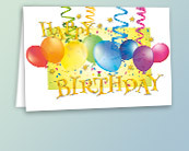 bulk business birthday greeting cards for clients and employees, Birthday card