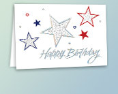 Patriotic Business Birthday Cards