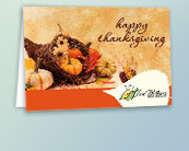 Business Thanksgiving Logo Cards
