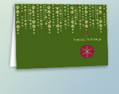 Green Recycled Holiday Greeting Cards