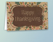 Recycled Business Thanksgiving Cards