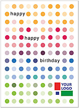 Colorful Dots Logo Card D4115U-V