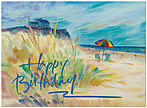 Beach Picnic Birthday Card A4048U-Y