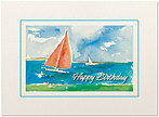 Sailboat Birthday Card A5016U-X