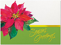 Perfect Poinsettia Holiday Card H4217U-AA