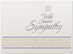 Sincere Sympathy Greeting Card X42U-X